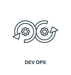 Dev ops line icon simple element from digital vector