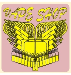 emblem of vape vector image