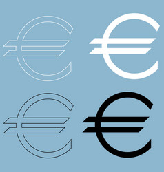 euro symbol the black and white color icon vector image