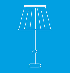 Floor lamp icon outline style vector