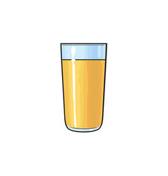 Freshly squeezed orange juice in tall glass vector