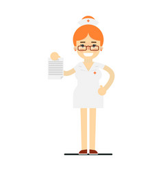friendly young nurse in medical uniform vector image