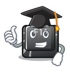 graduation f11 button in character shape vector image
