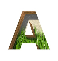Grass cutted figure a Paste to any background vector