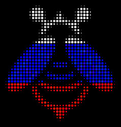 halftone russian bee icon vector image