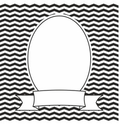 Hand drawn frame on black and white background vector
