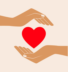 hands giving love symbol vector image