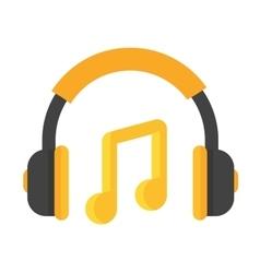 Headphones icon isolated vector