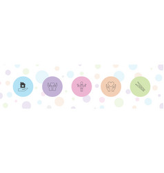 Hold icons vector