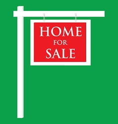 House for sale sign vector