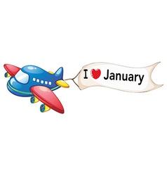 I love january vector
