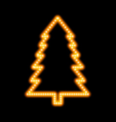 icon glowing christmas tree vector image