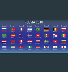Infographic about fifa world cup russia 2018 vector