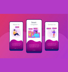 intelligent services in smart city app interface vector image