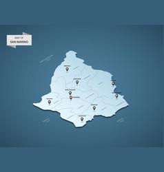isometric 3d san marino map concept vector image
