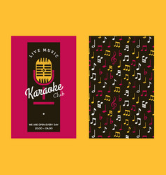 Karaoke club set banners vector