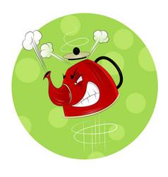 kettle design background vector image