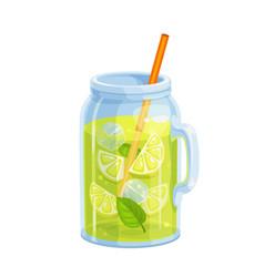 lemonade cocktail icon vector image