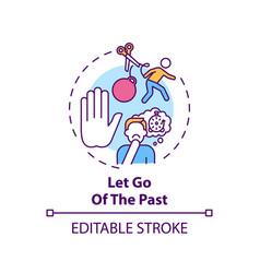 Let go past concept icon vector
