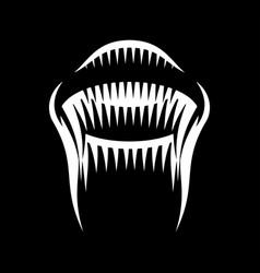 marine jellyfish on black background vector image
