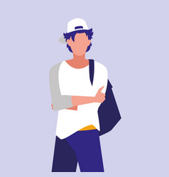 Masculine professional model character vector