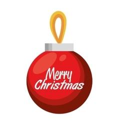 merry christmas big ball red design vector image