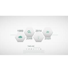 modern timeline infographic vector image