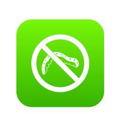 No caterpillar sign icon digital green vector