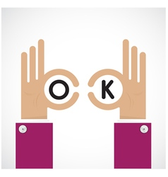 Ok hand sign Business and vision concept vector