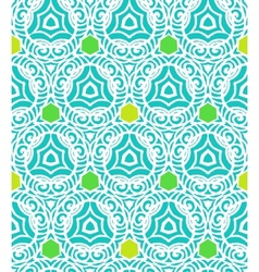 Pattern in tropical blue in hipster style vector image