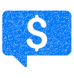 price message grunge icon vector image