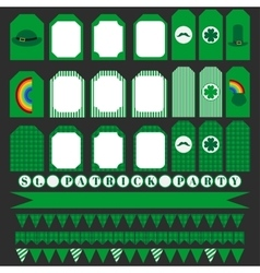 Printable set of saint patrick party elements vector