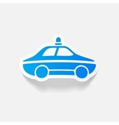 realistic design element police car vector image