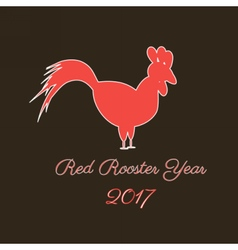 red rooster logo vector image