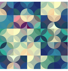 retro seamless pattern with circles colorful vector image
