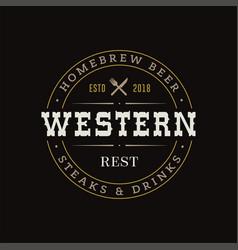 Retro vintage hipster logo sign design vector