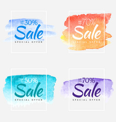 Sale final up to 70 off sign over art brush vector