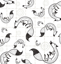 Seamless Fox pattern D vector