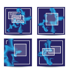 set of four square cards abstract banners with vector image vector image