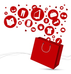 Shopping bag and fashion icon design vector image
