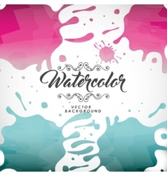 Splash icon Watercolor design graphic vector