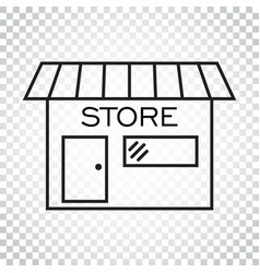 store icon in flat style shop symbol simple vector image