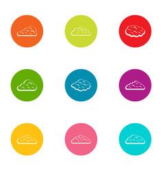 Swarm icons set flat style vector