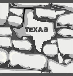 Texas stone wall vector