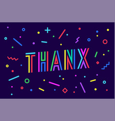 thank you greeting card banner poster vector image