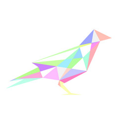The pastel bird vector