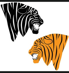 Tiger tattoo head animal vector