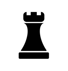 Tower chess piece or fort building part icon icon vector