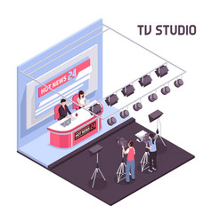 Tv studio vector