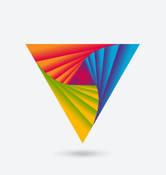 twisting triangle abstract multicolor icon vector image
